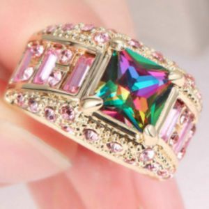 Jewelry - Mystic Topaz Rainbow Gold Fill 10kt GF Size 8 Ring